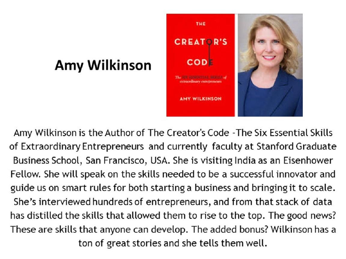 Amy Wilkinson - Speaker